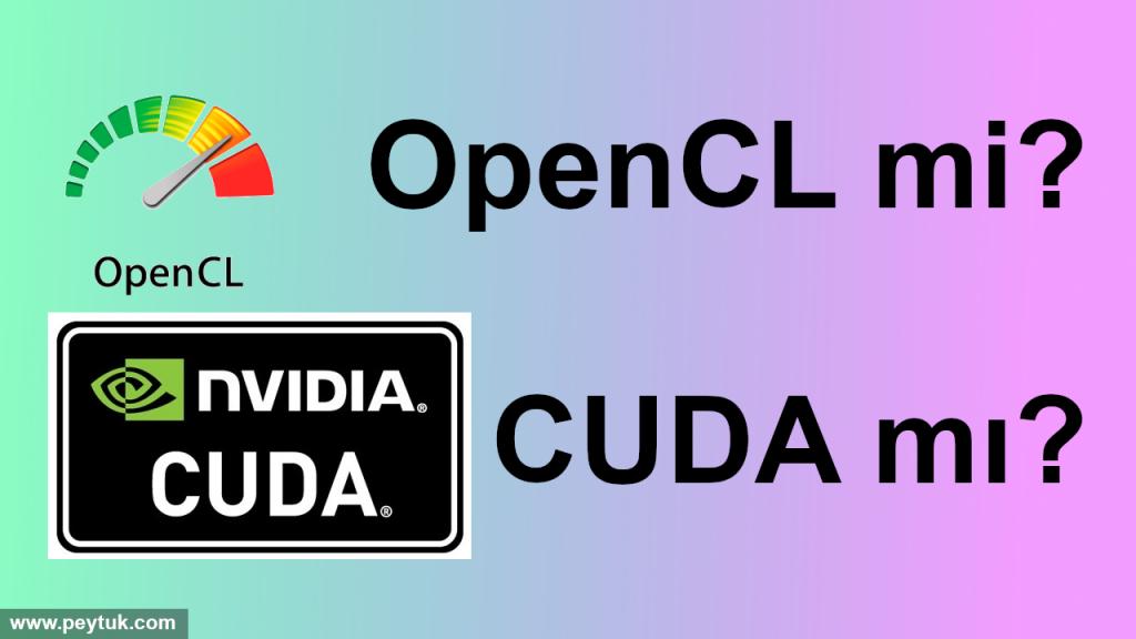 2020'de GPU programlama – OpenCL mi, CUDA mı?
